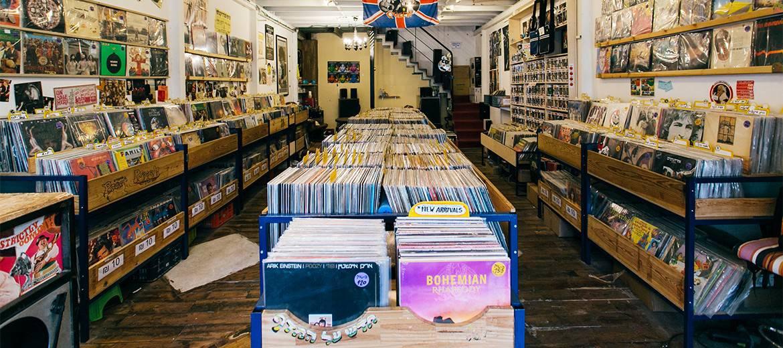 חנות תקליטים בתל אביב