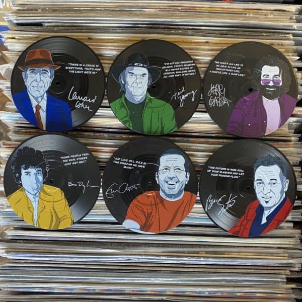 סט תחתיות בצורת תקליט GOLD